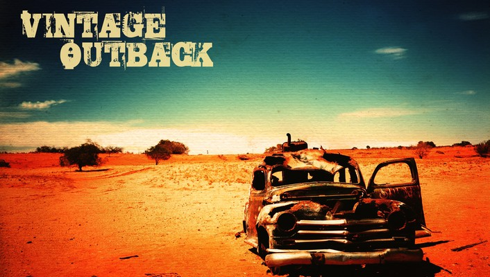 Outback deserts old vintage wallpaper
