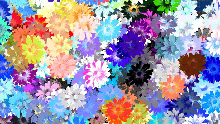 Artwork flowers multicolor wallpaper