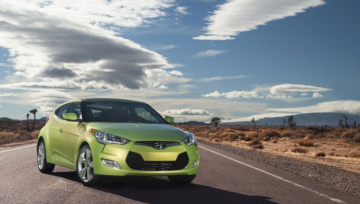 Hyundai veloster automobiles cars clouds roads wallpaper