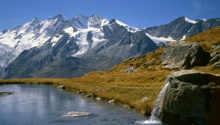 Switzerland lakes mountains range wallpaper