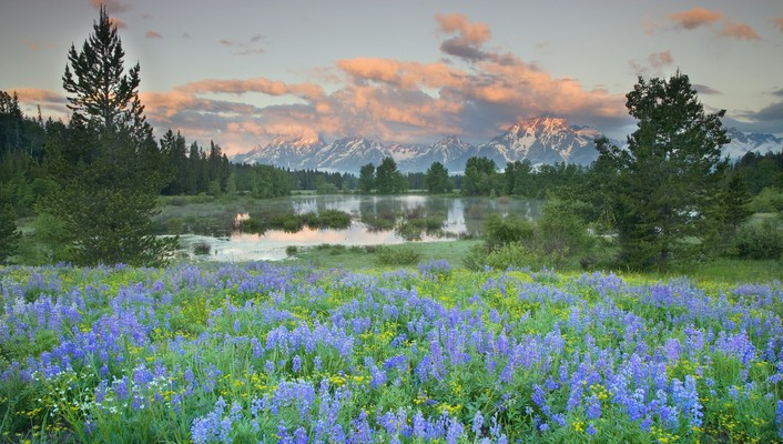 Grand teton national park wyoming landscapes wallpaper