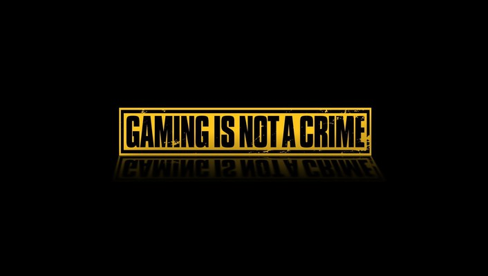 Black background crime gaming text wallpaper