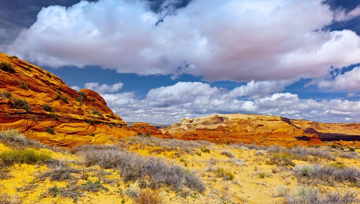 Arizona utah area canyon clouds wallpaper