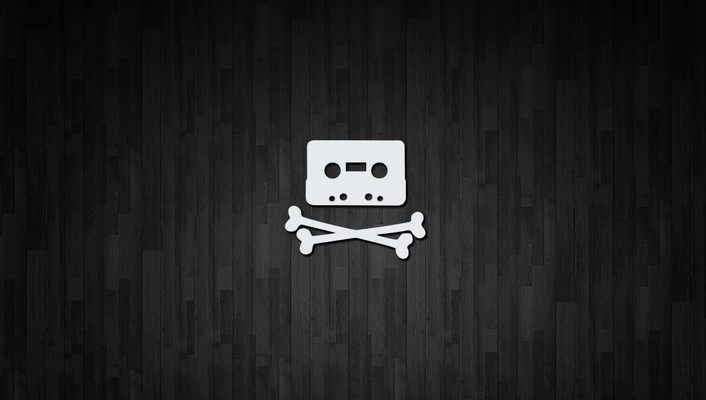 Home taping is killing music black bones piracy wallpaper