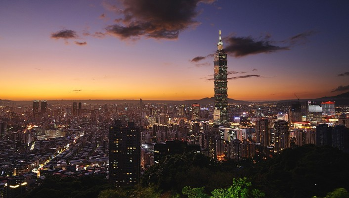 Taipei buildings cityscapes clouds skyscapes wallpaper