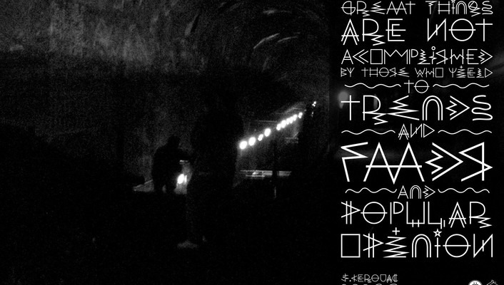 Barcelona underground tunnels grayscale font jack kerouac wallpaper