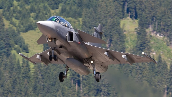 Aircraft jet jas 39 gripen saab wallpaper