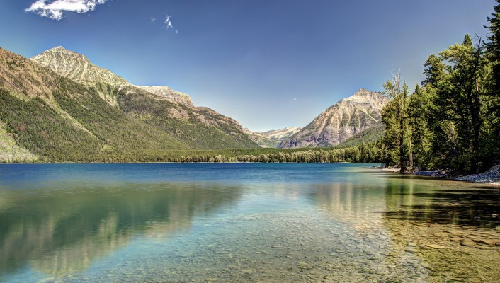 Lake mcdonald glacier national park wallpaper