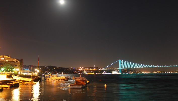 Cityscapes lights bridges istanbul bosphorus cities wallpaper
