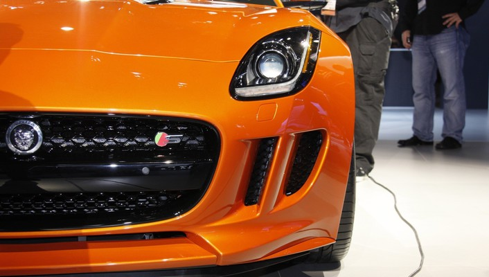 Orange cars jaguar f-type wallpaper