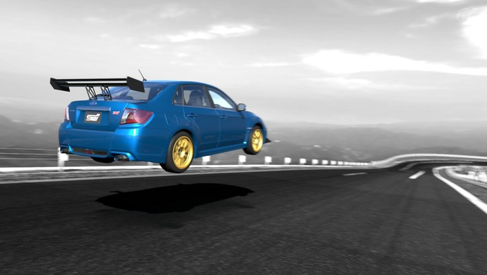 Subaru impreza wrx sti cars video games wallpaper