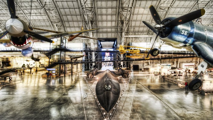 Aircraft hangar wallpaper