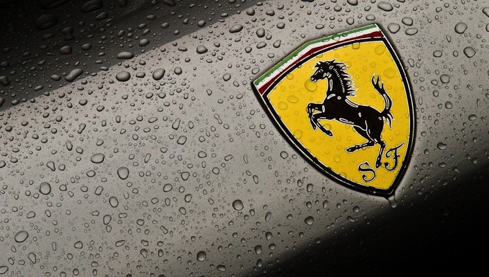 Ferrari emblem cars logos water drops wallpaper