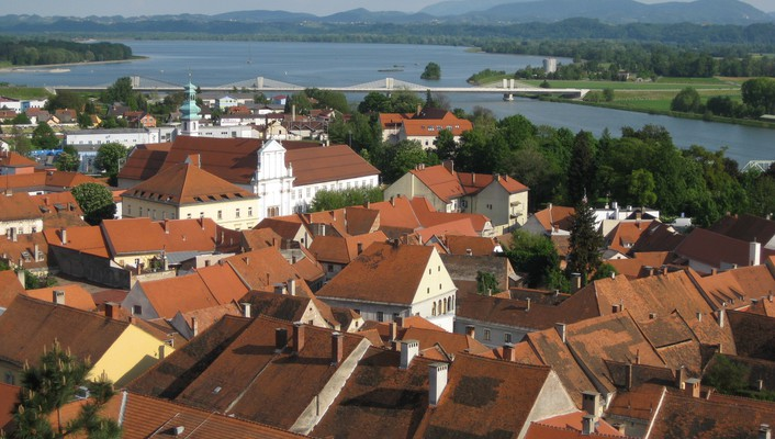 Ptuj the oldest town in slovenia wallpaper