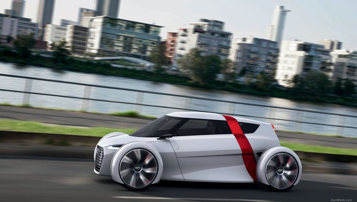 Audi cars concept art urban wallpaper
