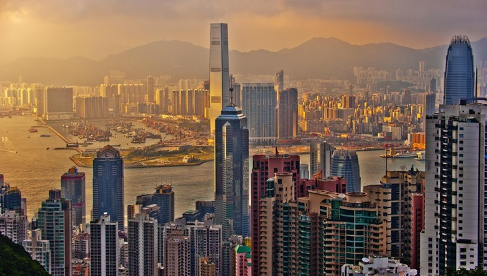China hong kong cityscapes landscapes wallpaper