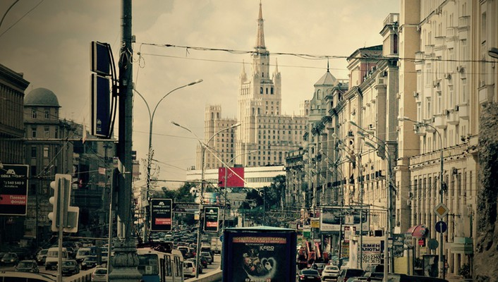 Moscow russia cityscapes traffic urban wallpaper
