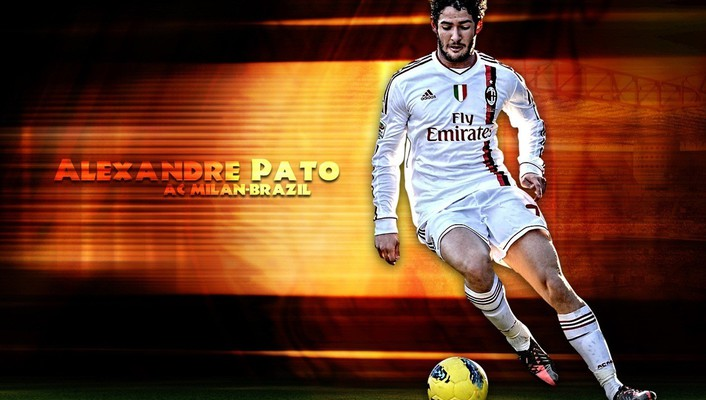 Soccer athletes alexandre pato football player wallpaper