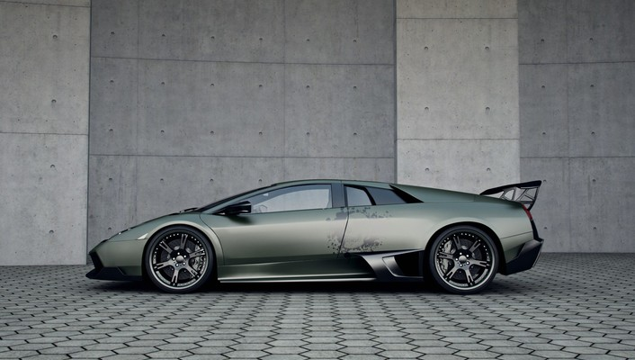 Lamborghini murcielago cars side view skulls wallpaper