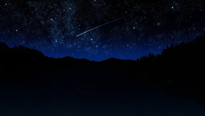Meteorite night stars wallpaper