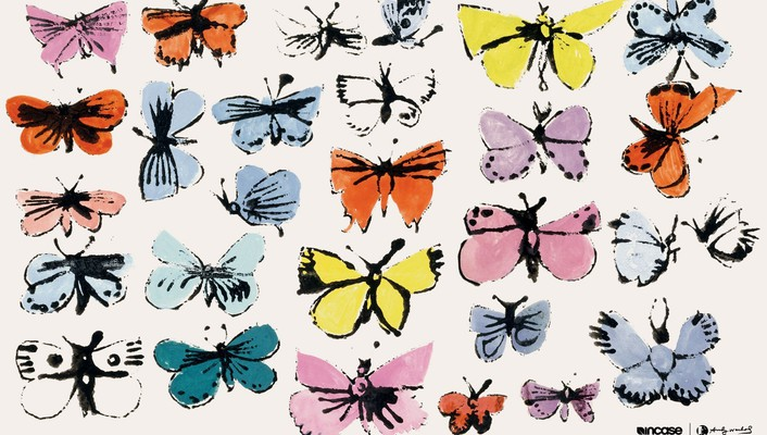 Andy warhol incase butterflies wallpaper