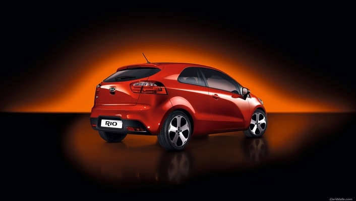 Kia rio cars rear angle view vehicles wallpaper