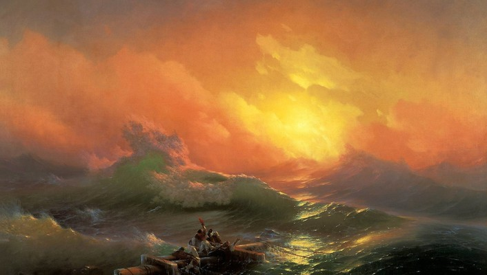 Ivan aivazovsky the ninth wave artwork ocean paintings wallpaper