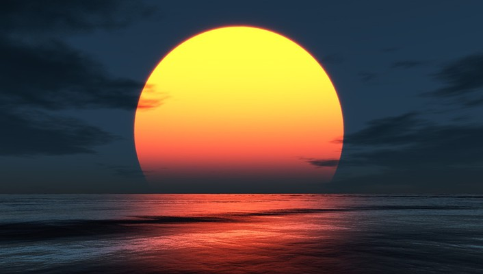 Sun coast digital art landscapes nature wallpaper