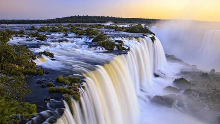 Landscapes rivers waterfalls wallpaper