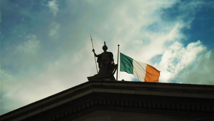 Ireland flags irish statues wallpaper
