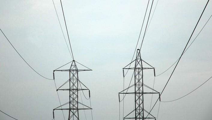 Cables power lines wallpaper