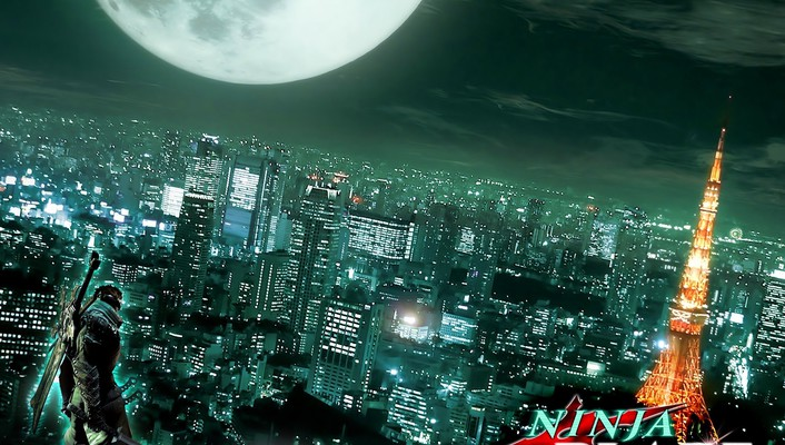 Tokyo cityscapes ninjas blade towers wallpaper