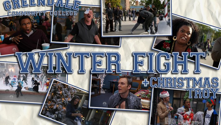 Community nbc fight winter wallpaper