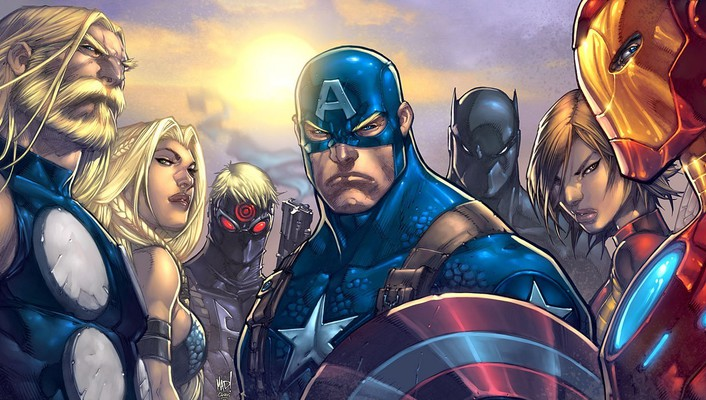 Comics thor captain america marvel ultimates avengers wallpaper