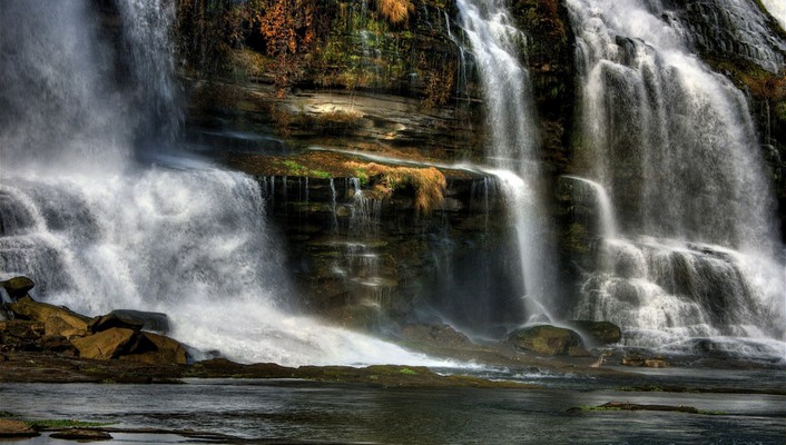 Hdr photography falls wallpaper