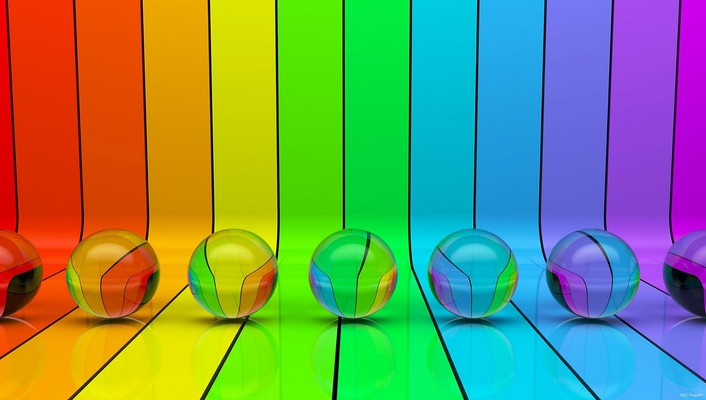Colors multicolor rainbows spheres stripes wallpaper
