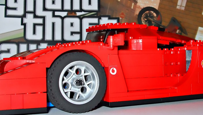 Grand theft auto legos cars wallpaper