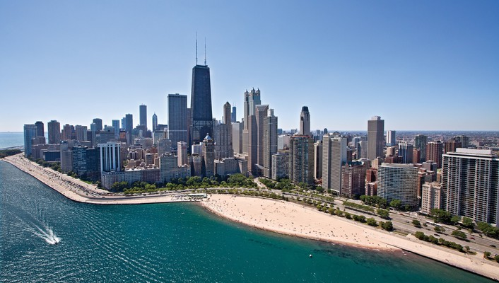 Chicago beaches cityscapes wallpaper