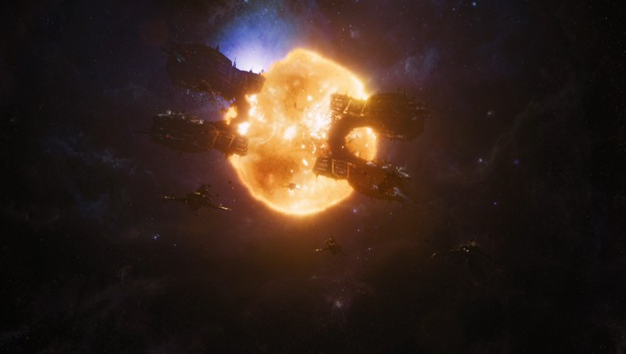 Explosions screenshots spaceships marvel the avengers (movie) wallpaper