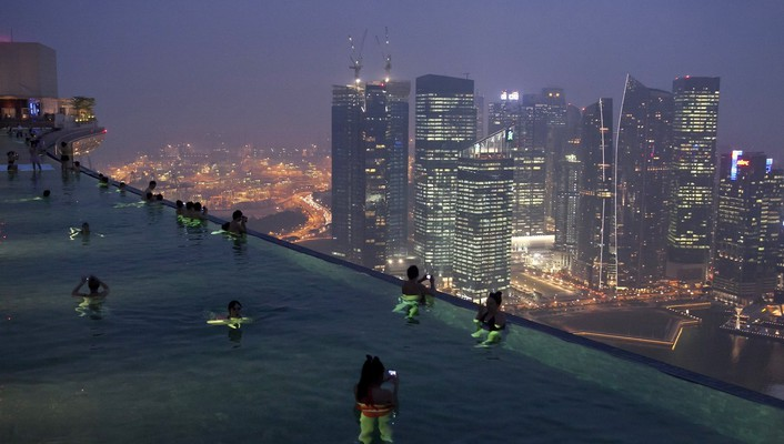 Marina bay sands singapore infinity pools wallpaper