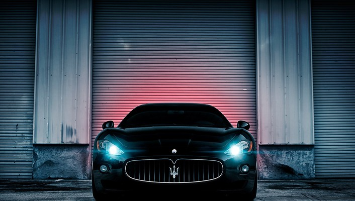 Gt maserati black cars luxury sport wallpaper