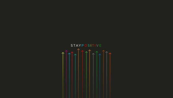 Inspirational minimalistic multicolor posters wallpaper