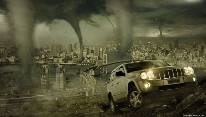 Tornado cityscapes wallpaper