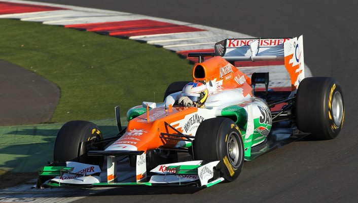 Force india formula one cars racing wallpaper