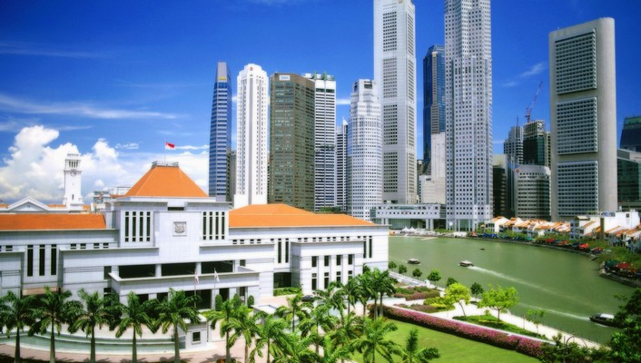 Singapore architecture buildings cityscapes tropic wallpaper