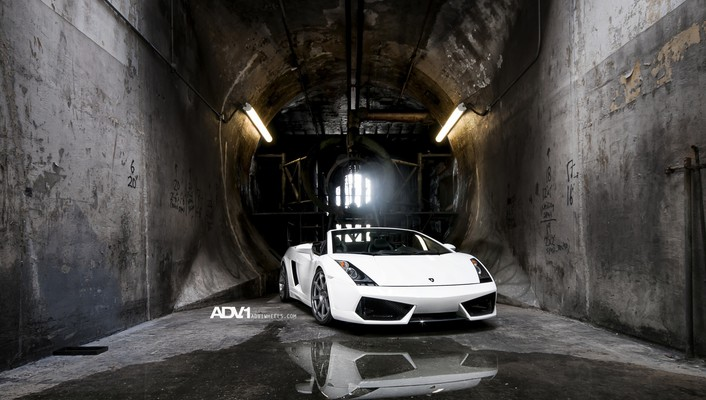 Adv 1 lamborghini gallardo spyder cars white wallpaper