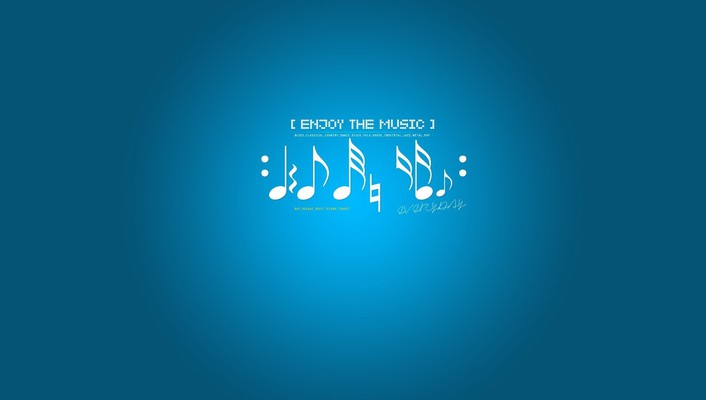 Blue background music notes wallpaper