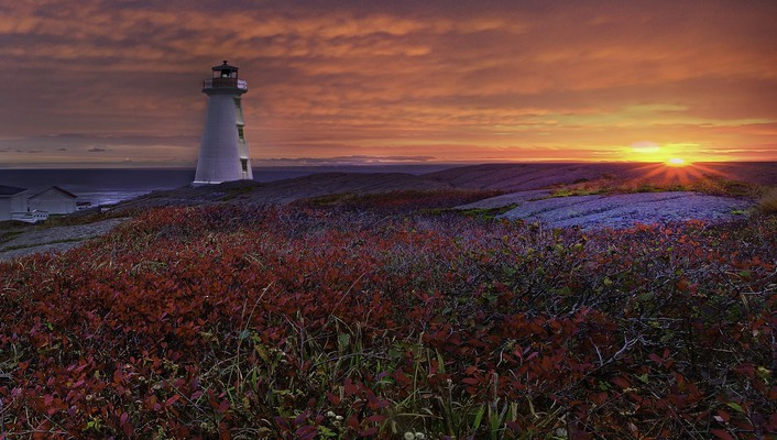 Capes lighthouses nature sunrise sunset wallpaper