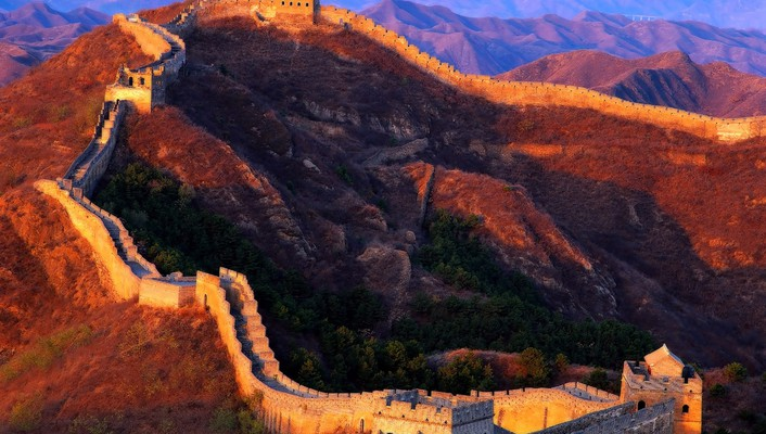 Great wall of china architecture landscapes wallpaper