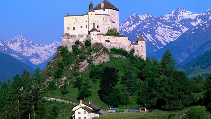 Mount switzerland castle landscapes nature wallpaper